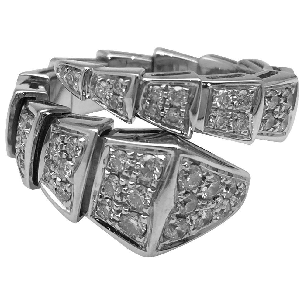 white gold bulgari ring collection diamonds
