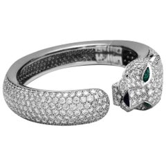 Cartier Panther Collection Diamonds Emerald Onyx Bangle