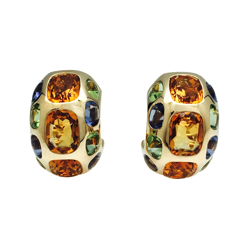 Chanel Earrings, Coco Collection, Set with Gemstones