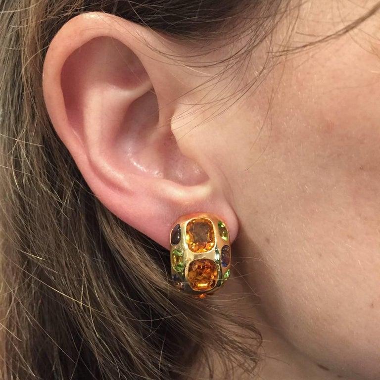 Yellow Gold Chanel Earrings,