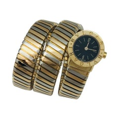 "Two Colors of Gold Bulgari Vintage Watch, ""Snake"" Collection"