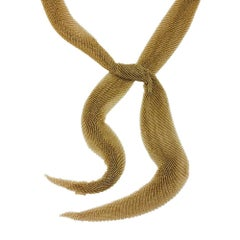 Yellow Gold Elsa Peretti Necklace for Tiffany & Co.