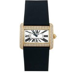 Cartier Yellow Gold Diamond Divan Collection Wristwatch