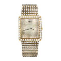 Piaget Yellow Gold Diamond Wristwatch, circa 1990