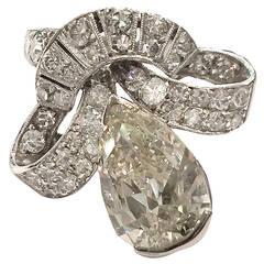 1960s Diamond Gold Platinum Ring