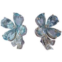 Clover earrings made by Faraone.