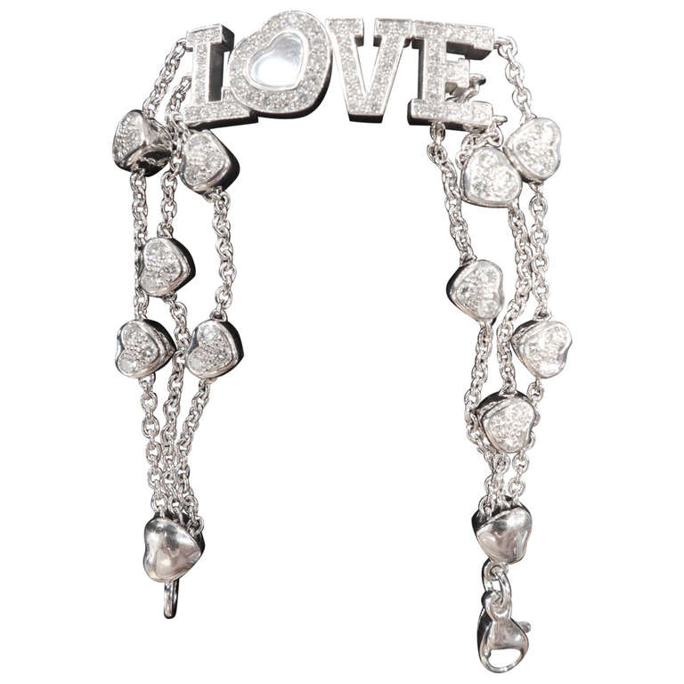 Chopard White Gold Love Bracelet