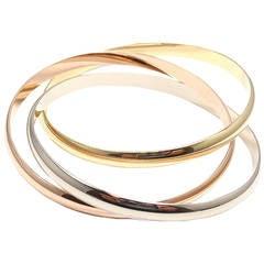Cartier Trinity Three Color Gold Bangle Bracelet