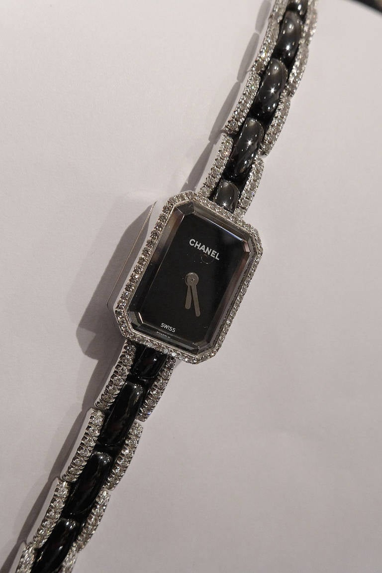 Chanel Lady's White Gold and Diamond First Collection Bracelet Watch 2
