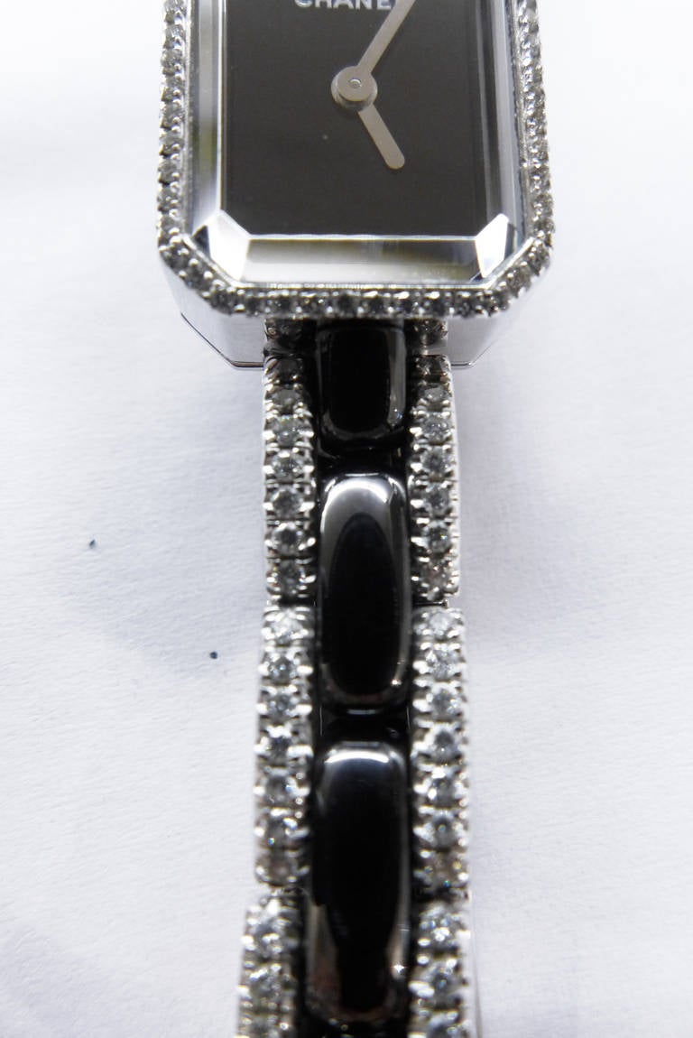 Chanel Lady's White Gold and Diamond First Collection Bracelet Watch 4