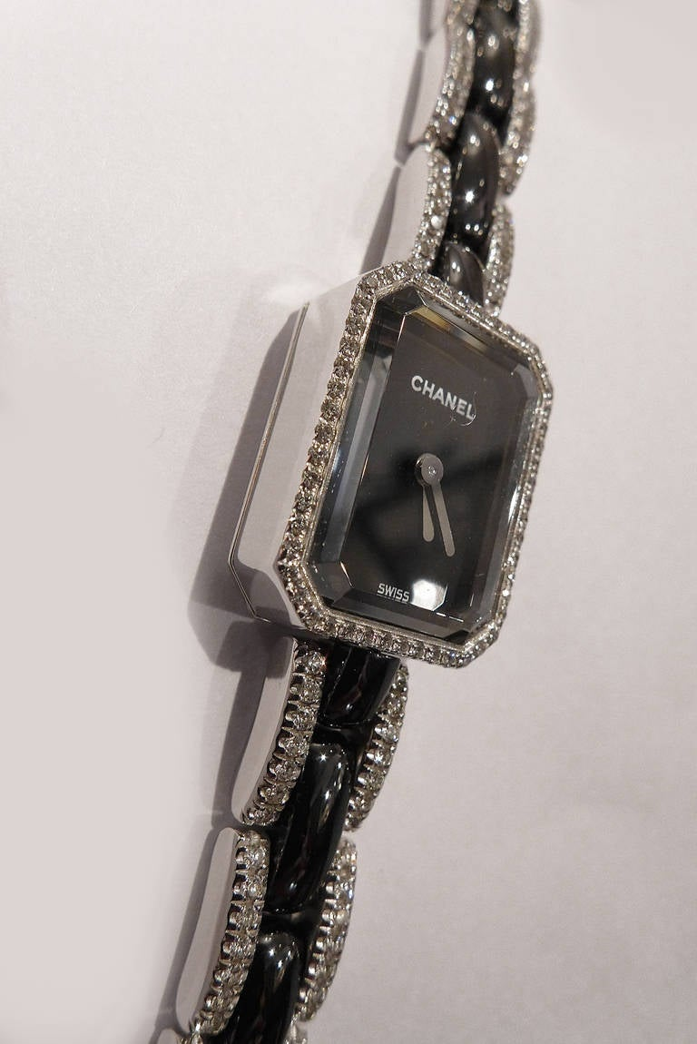 Chanel Lady's White Gold and Diamond First Collection Bracelet Watch 3