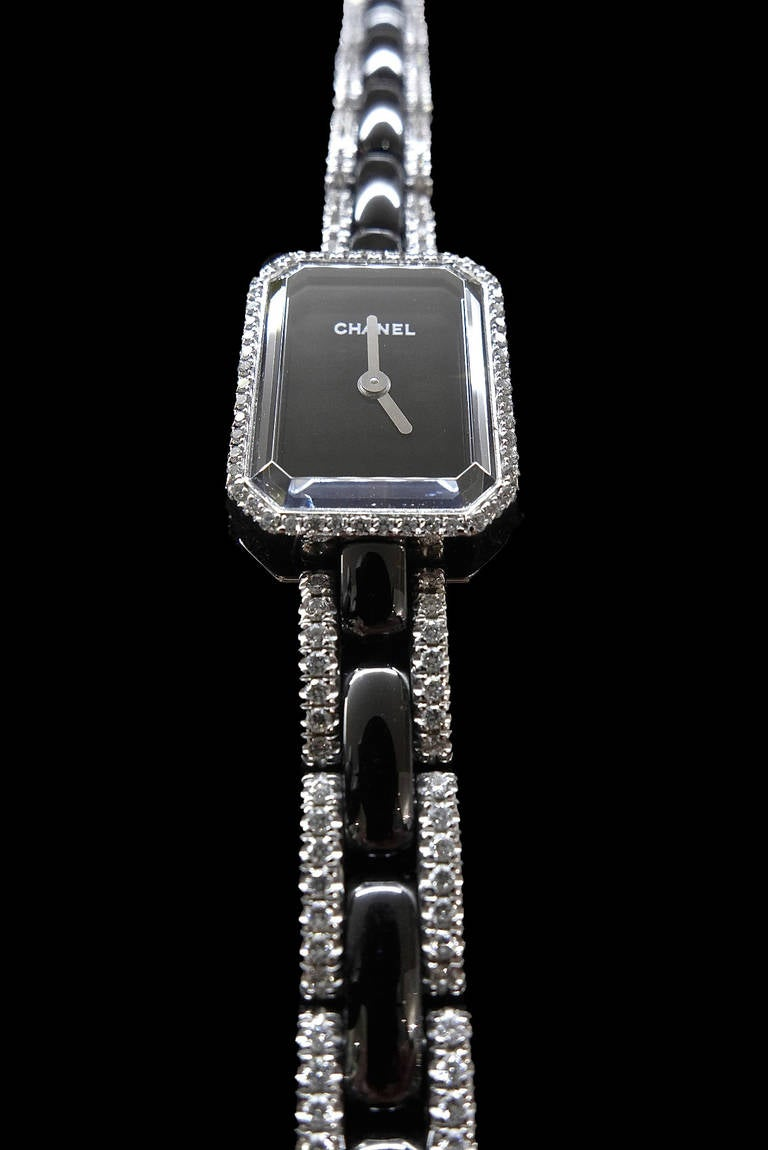 Chanel Lady's White Gold and Diamond First Collection Bracelet Watch 5