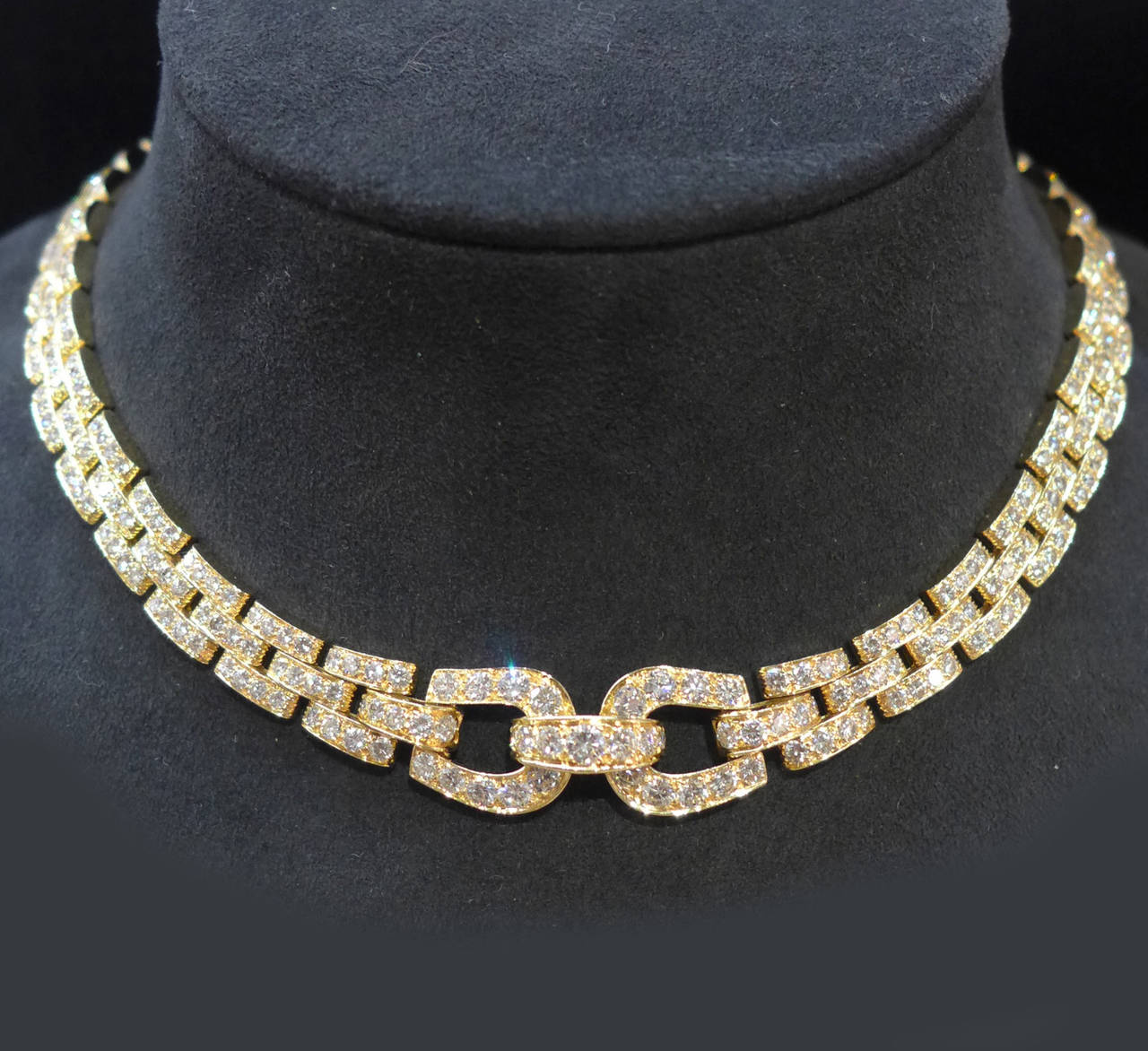 Fashion week Diamond yellow necklace cartier for lady