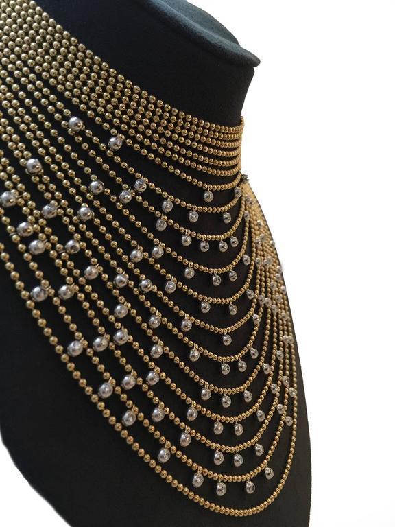 Cartier Sublime Diamond Gold Draperie Necklace Set   2
