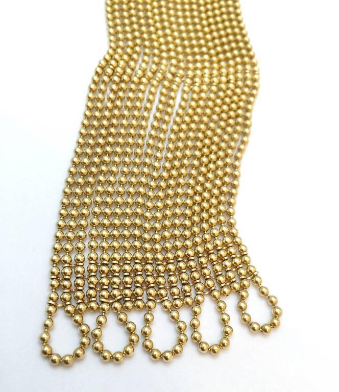 Cartier Sublime Diamond Gold Draperie Necklace Set   5