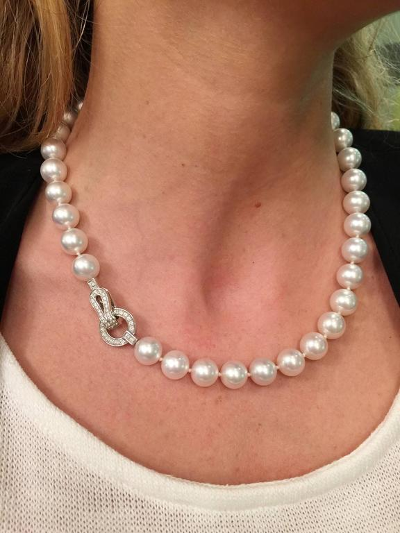 Exceptional South Sea Pearl Cartier Necklace For Sale At