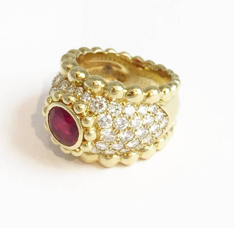 Chanel Ruby Diamond Gold Ring  3