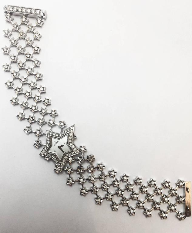 Chanel Ladies White Gold Diamond Dust of the Stars Quartz Wristwatch For Sale 2