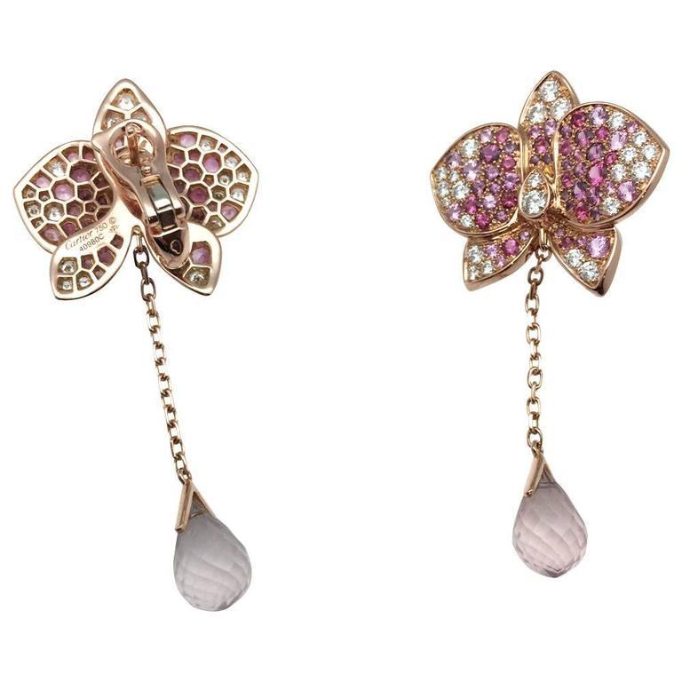 A 750/000 rose gold Cartier earrings