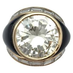 10.28 Carat Brilliant-Cut Diamond Yellow Gold Ring