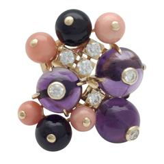 Amethyst and Coral, Delice De Goa Cartier Ring