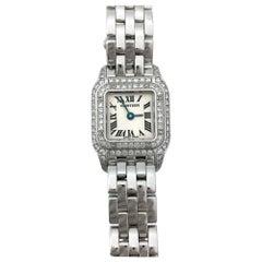Cartier White Gold Diamond Mini Panthère Quartz Wristwatch