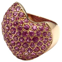 Van Cleef & Arpels Vague Collection Pinks Sapphire Gold Ring