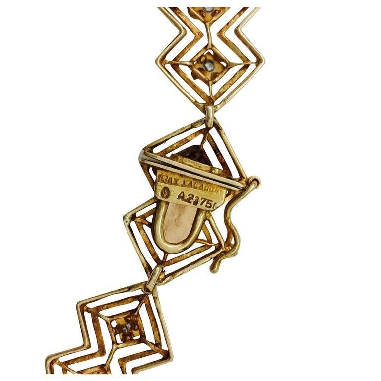 Ilias Lalaounis Diamond Yellow Gold Tie Necklace For Sale 3