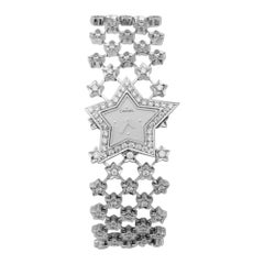 Chanel Ladies White Gold Diamond Stardust Quartz Wristwatch