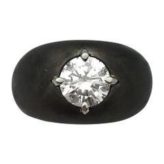 Blackened White Gold 1.87 Carat Diamond Ring