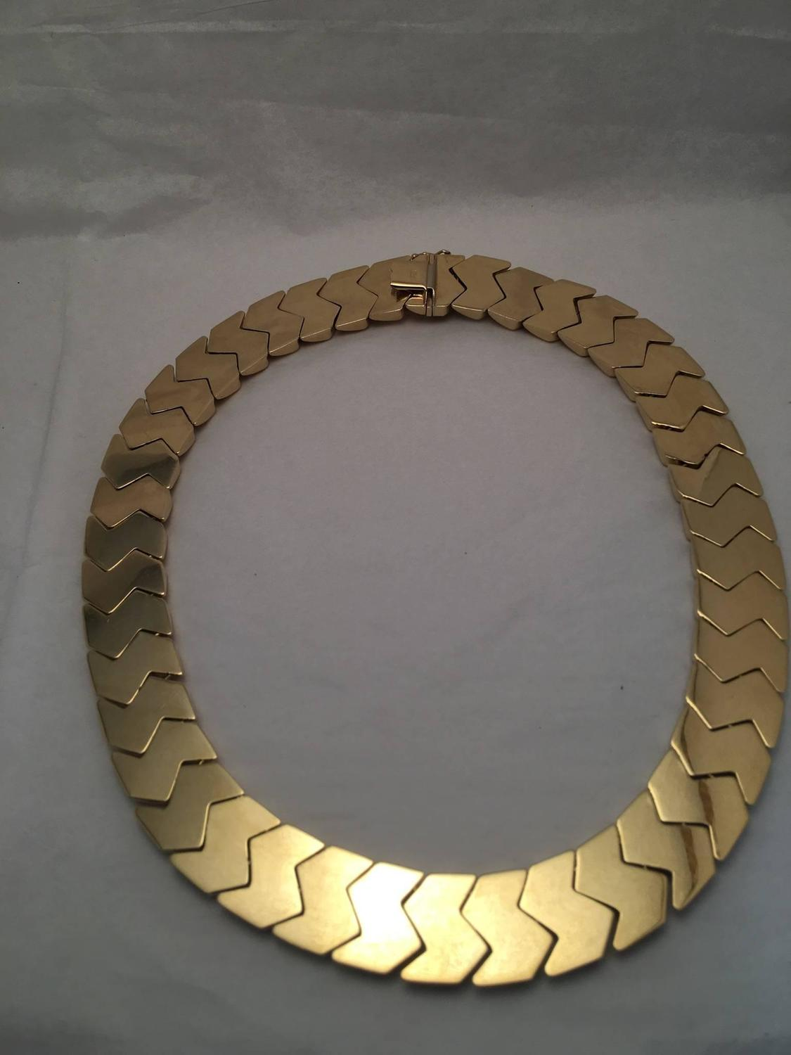 Basket Weaving Jewelry : Beautiful italian gold basket weave necklace for sale at