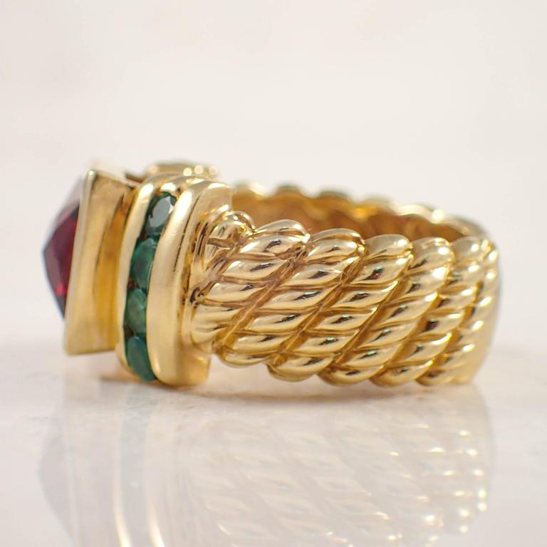 david yurman garnet emerald gold ring for sale at 1stdibs