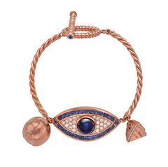 Sapphire Diamond Gold Sahara Eye Bracelet