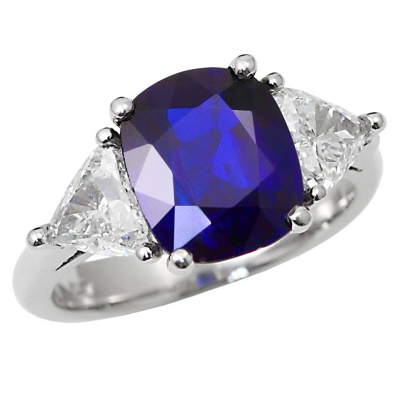 g blue carat certificate heat no pin sapphire burma ring belin platinum
