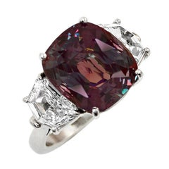 11 Carat Alexandrite Diamond Platinum Ring