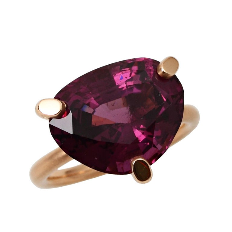 Purple Spinel Gold Ring 1
