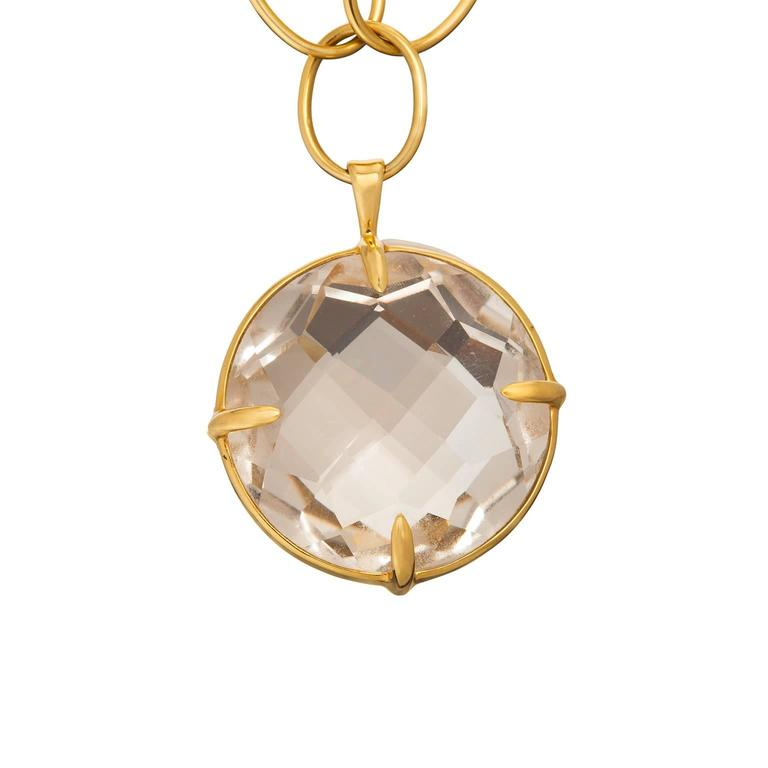 Ippolita Rock Crystal Quartz Open Link Gold Pendant Necklace 2
