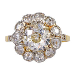 Victorian Old Mine Cut Diamond Gold Ring