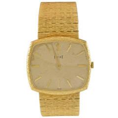 Piaget Yellow Gold Quartz Wristwatch Ref 9730