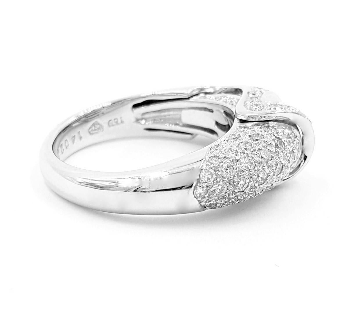 signed vasteros italy saddle 2 10 carats of diamonds and