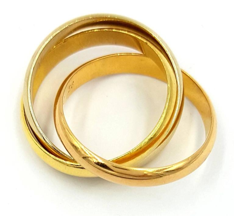 Cartier Trinity Wedding Ring: Cartier Trinity Tricolor Gold Rolling Bands Wedding Ring