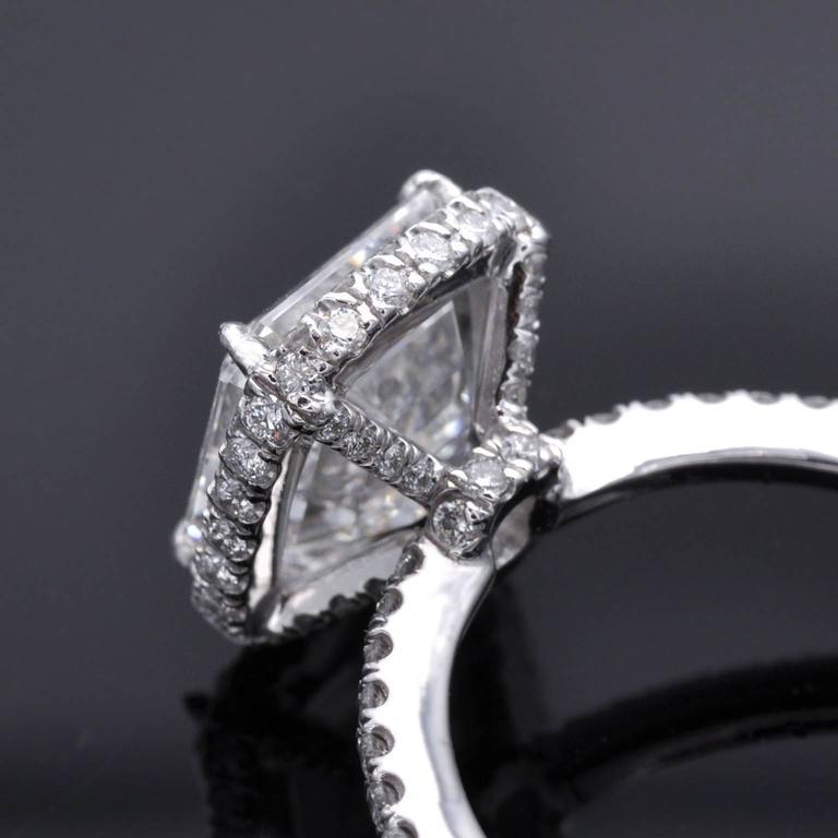 Gia Certified 3 Carat E Vvs1 Asscher Cut Diamond Gold