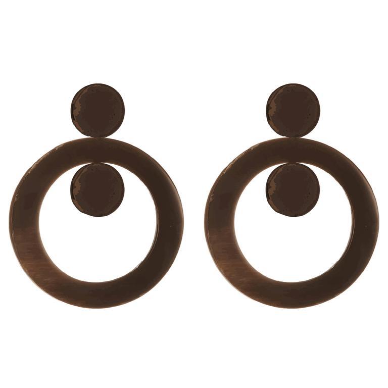 Fouche Horn Art Deco Earrings For Sale