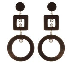 Fouche Silver Horn Earrings