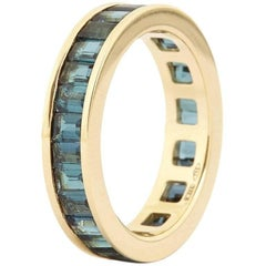 Fouche Art Deco Tourmaline Eternity Band Ring