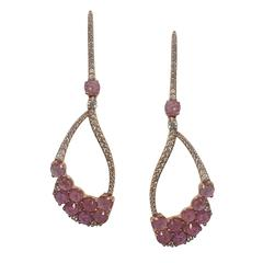Fifty Shades of Pink, Pink Sapphires Earring