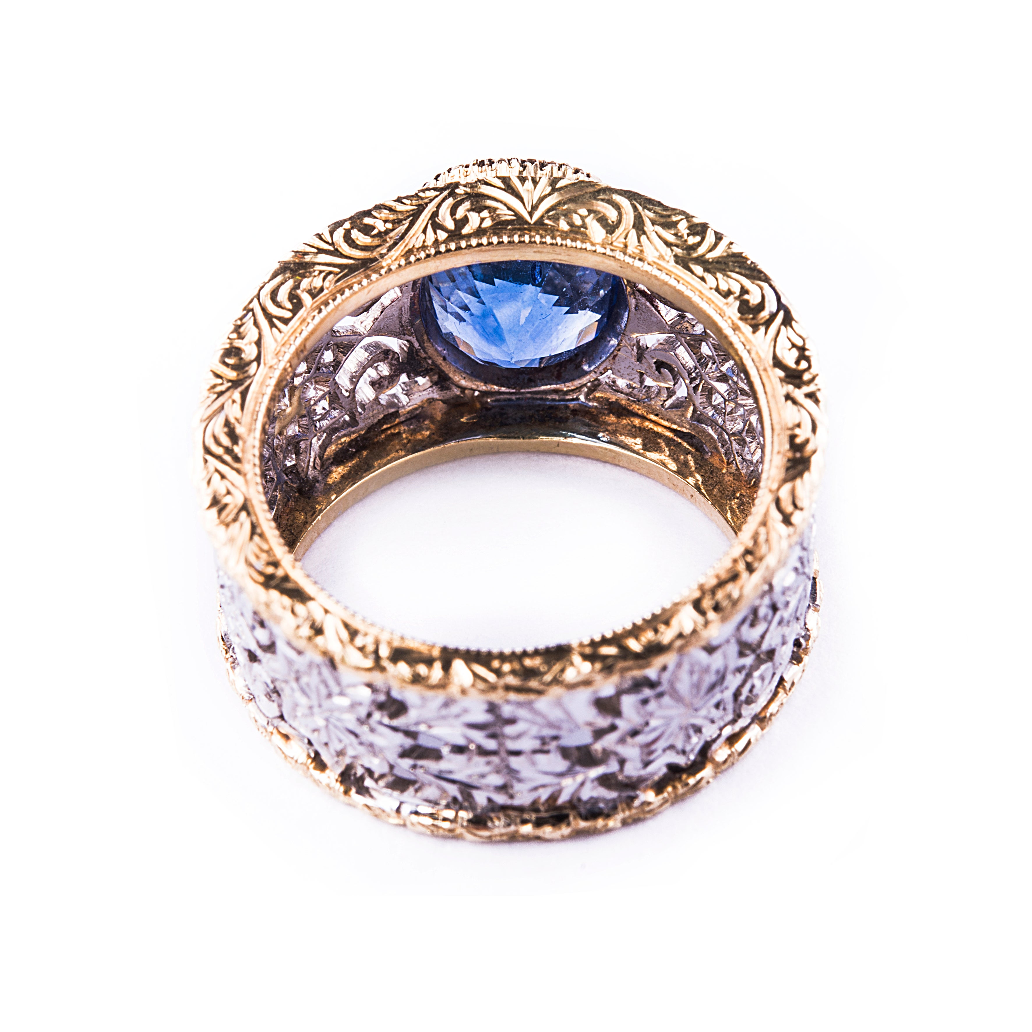 overstock silver and created ring sterling shipping watches jewelry product white blue com free miadora topaz today sapphire infinity