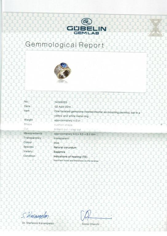 Buccellati Sapphire Diamond Gold Ring 4