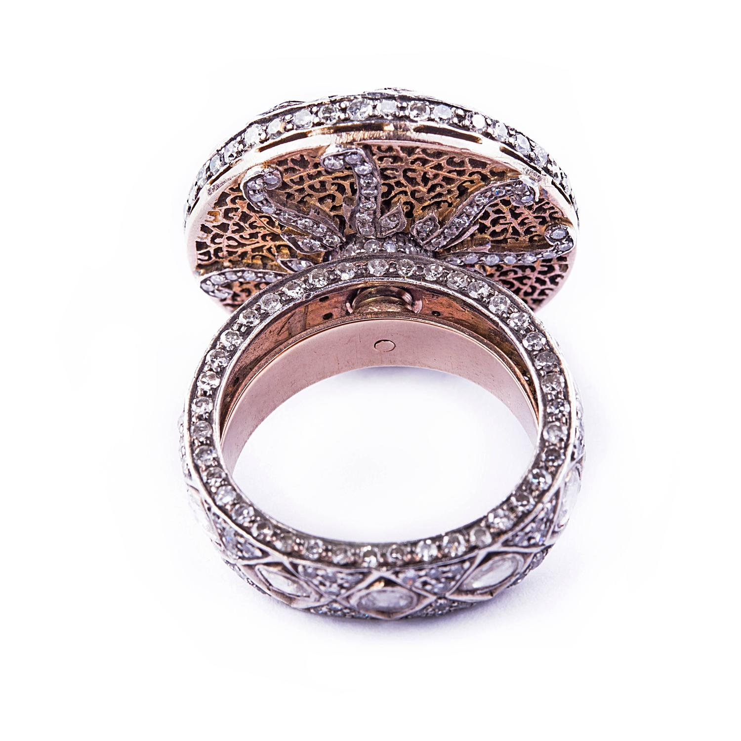Traditional diamond two color gold wedding ring for sale for Orthodox wedding rings for sale