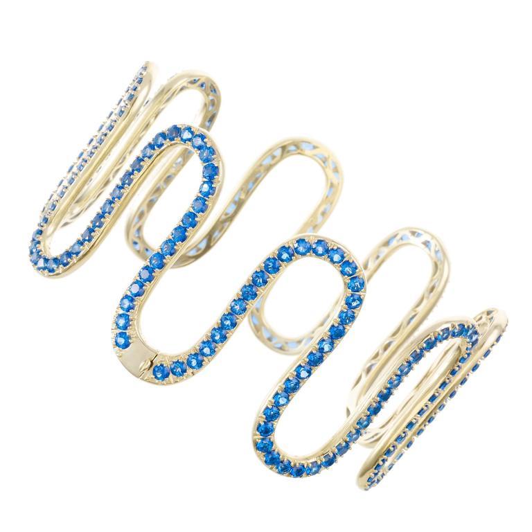 Sabine Getty Blue Topaz Wiggly Choker Necklace